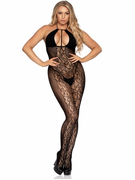 Lace And Opaque Bodystocking