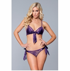 Lace And Satin Bra And Panty Set