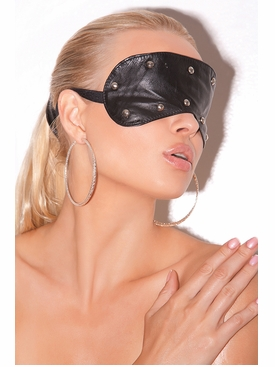 Leather Blindfold With Studs