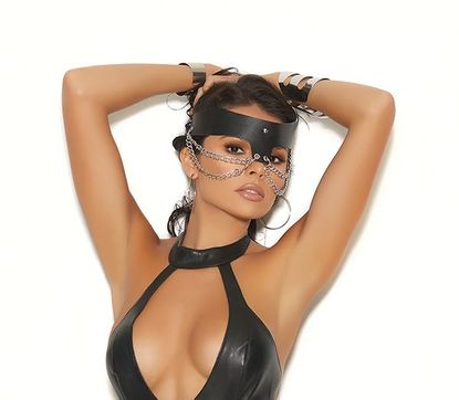 Leather Chain Mask