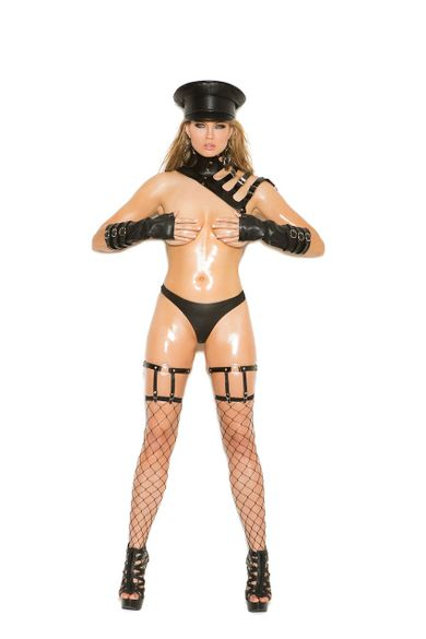 Leather Leg Garters With D Ring