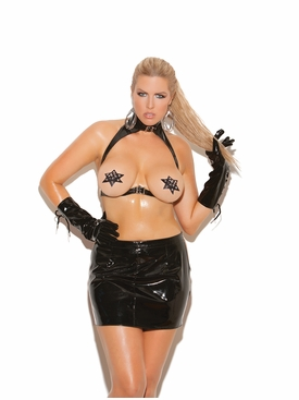 Leather Star Pasties With Nail Heads