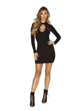 Long Sleeve Dress with Cutout Detail