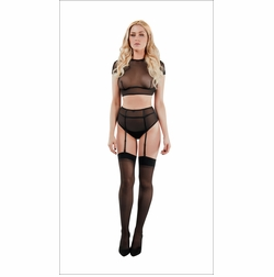 Lustful Pastime Top With Panty Set