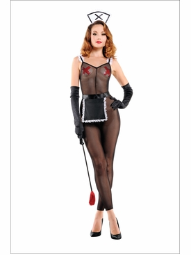 Maid Bodystocking Roll Play Costume