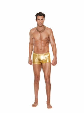 Men's Gold Lame'  Boxer Brief