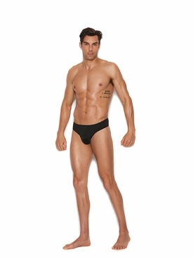 Men's Black Thong Back Brief