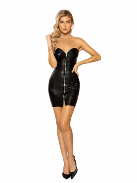 Mini Tube Dress with Zipper Closure