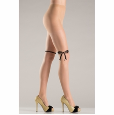 Nude Pantyhose With Bow Design