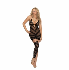 Opague And Fishnet Mini Dress