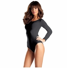 Opaque Long Sleeve Body Suit