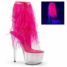 Pleaser Adore-1017MFF Ankle Boot With Fur Fringe