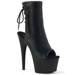 Pleaser Adore-1018 Platform Peep Toe Ankle Boot