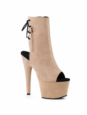 Pleaser Adore-1018FS Faux Suede Lace Up Ankle Boot