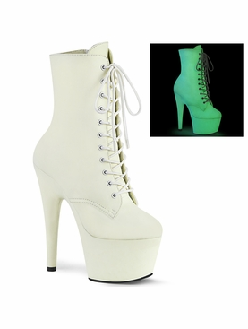 Pleaser Adore-1020GD Glow In The Dark Ankle Boots