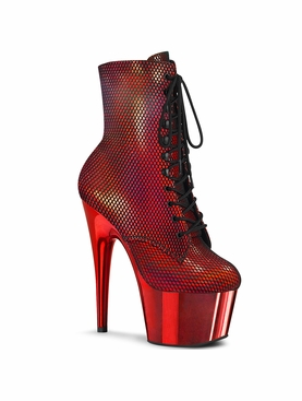 Pleaser Adore-1020HFN Lace-Up Front Ankle Boot