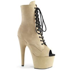 Pleaser Adore-1021FS Open Toe Lace-Up Ankle Boot