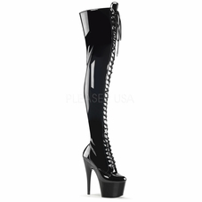 Pleaser Adore-3023 Stretch Thigh High Boots