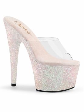 Pleaser Adore-701HMG Mini Glitter Wrapped Platform Slide
