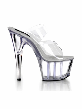 Pleaser Adore-702 Stiletto Two-Band Platform Sandal