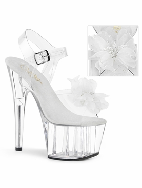 Pleaser Adore-708BFL Ankle Strap Sandal W/Flower