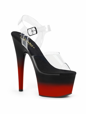 Pleaser Adore-708BR-H Two Tone Ankle Strap Sandal