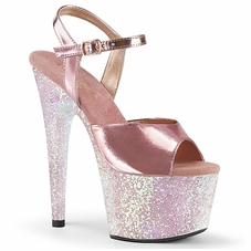 Pleaser Adore-709LG Holographic Glitter Ankle Strap Sandal