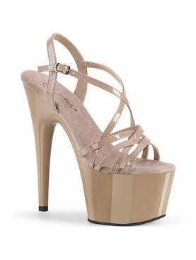 Pleaser Adore-713 Overlapping Criss Cross Strap Sandal