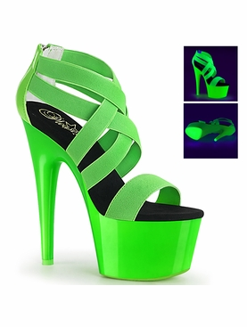 Pleaser Adore-769UV Criss Cross Sandal W/Blacklight Reactive