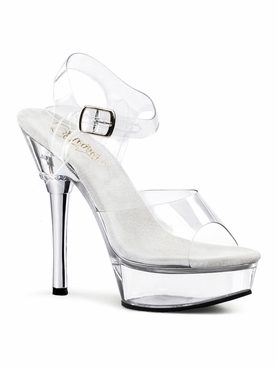 Pleaser Allure-608 Ankle Strap Sandal