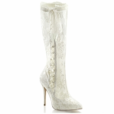 Pleaser Amuse-2012 Hidden Platform Knee High Boot
