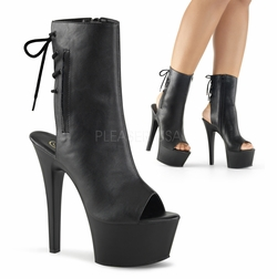 Pleaser Aspire-1018 Lace Up Back Ankle Boot