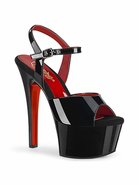 Pleaser Aspire-609TT Two Tone Ankle Strap Sandal