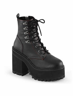 Pleaser Assault-100 Double D-Ring Lace-Up Ankle Boot