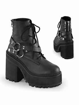 Pleaser Assault-101 Lace up Ankle Boot