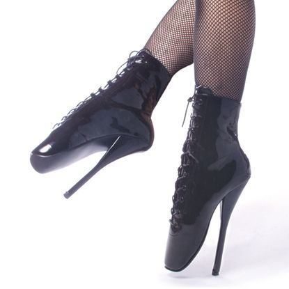 Pleaser Ballet-1020 Spike Fetish Ballet Ankle Boots