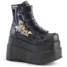 Pleaser Bear-105 Front Buckle Ankle Boot