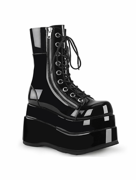 Pleaser Bear-265 Lace-Up Front Mid-Calf Boot