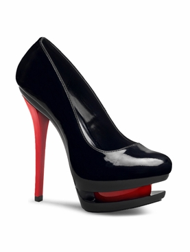 Pleaser Blondie-685 Dual Platform Two-Tone Pump