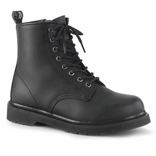 Pleaser Bolt-100 Men's 8-Eyelet Lace-Up Mid Calf Boot