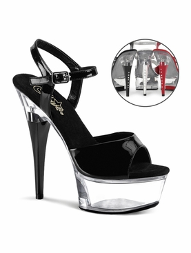Pleaser Captiva-609 Sexy Platform Sandal With R/S Heel