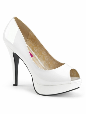 Pleaser Chloe-01 Peep Toe Pump