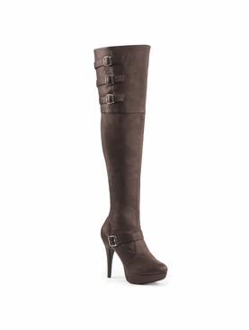 Pleaser Chloe-308 Platform Thigh High Boot