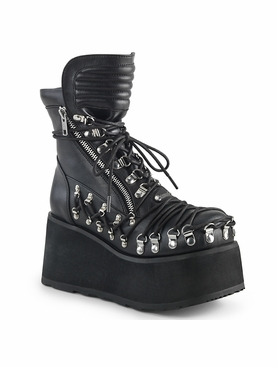Pleaser Clash-150 Corset Style Lace Up Ankle Boot