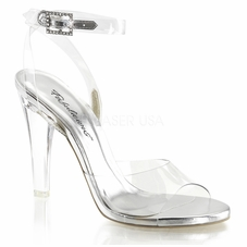 Pleaser Clearly-406 Wrap Around Ankle Strap Sandal