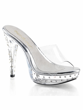 Pleaser Cocktail-501SDT Rhinestone Studded Slide