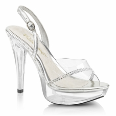 Pleaser Cocktail-556 Platform Sling Back Sandal