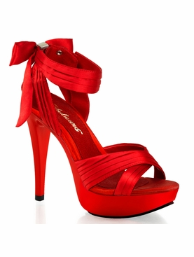 Pleaser Cocktail-568 Criss Cross Pleated Straps Sandals Size 8