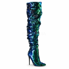 Pleaser Courtly-3011 Over-the-Knee Boot