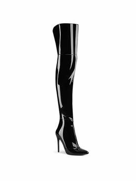 Pleaser Courtly-3012 Stretch Thigh High Boot